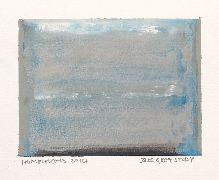 "Ian Humphreys – ""Blue Grey Study"" – Water Colour & Gouache – 2014"
