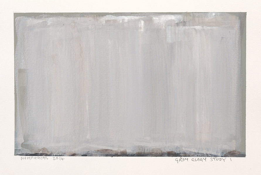 "Ian Humphreys – ""Grey Elegy Study 1″ – Water Colour & Gouache – 2014"