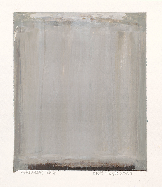 "Ian Humphreys – ""Grey Fugue Study"" – Water Colour & Gouache – 2014"