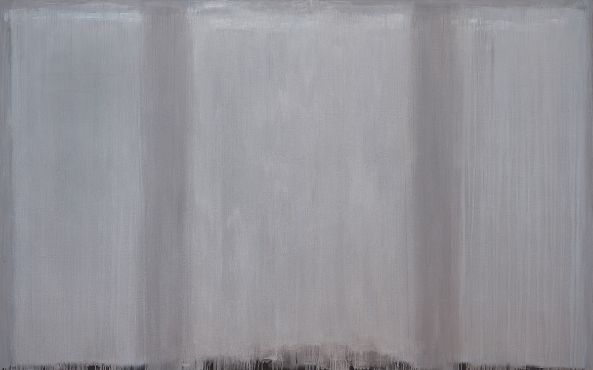 Ian Humphreys – Homage to Josef in Silver and Grey – Oil on Linen - 152 x 244 cm – 2014