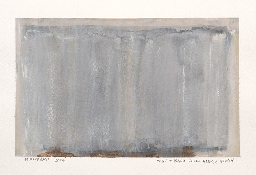 "Ian Humphreys – ""Mist + Bach Elegy Study"" – Water Colour & Gouache – 2014"