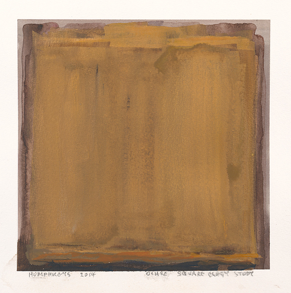 "Ian Humphreys – ""Ochre Square Elegy Study"" – Water Colour & Gouache – 2014"