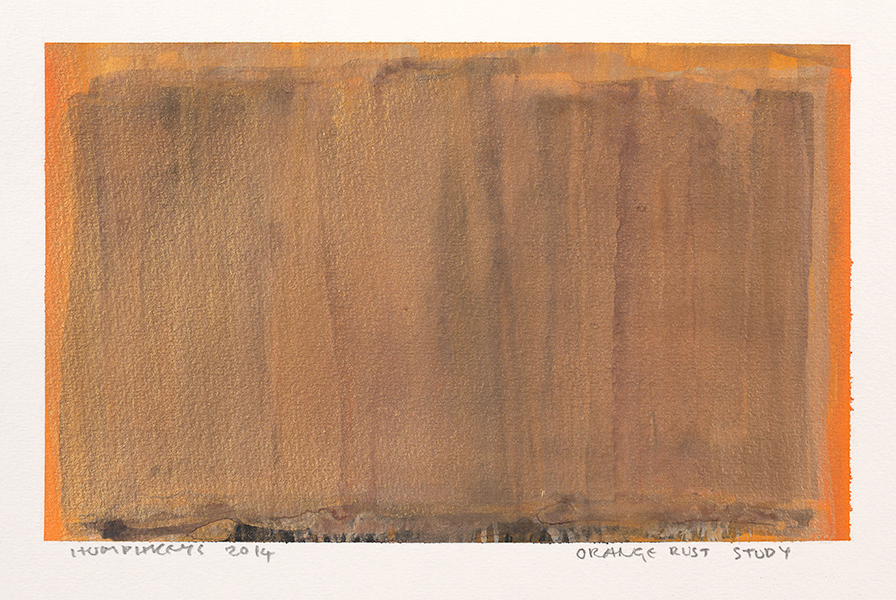 "Ian Humphreys – ""Orange Rust Study"" – Water Colour & Gouache – 2014"