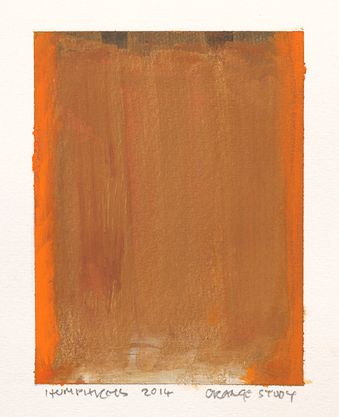 "Ian Humphreys - ""Orange Study"" - Water Colour & Gauche - 2014"