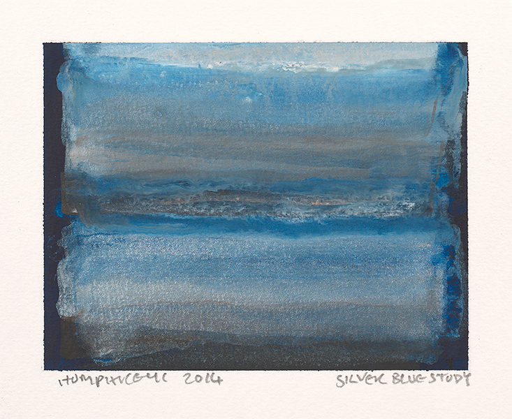 "Ian Humphreys – ""Silver Blue Study"" – Water Colour & Gouache – 2014"