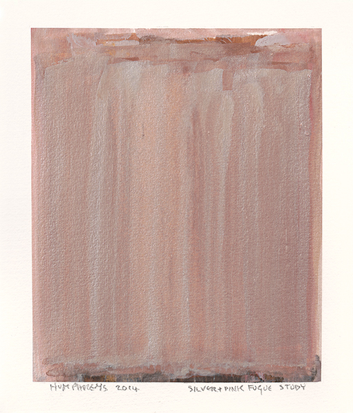 "Ian Humphreys – ""Silver Pink Fugue Study"" – Water Colour & Gouache – 2014"