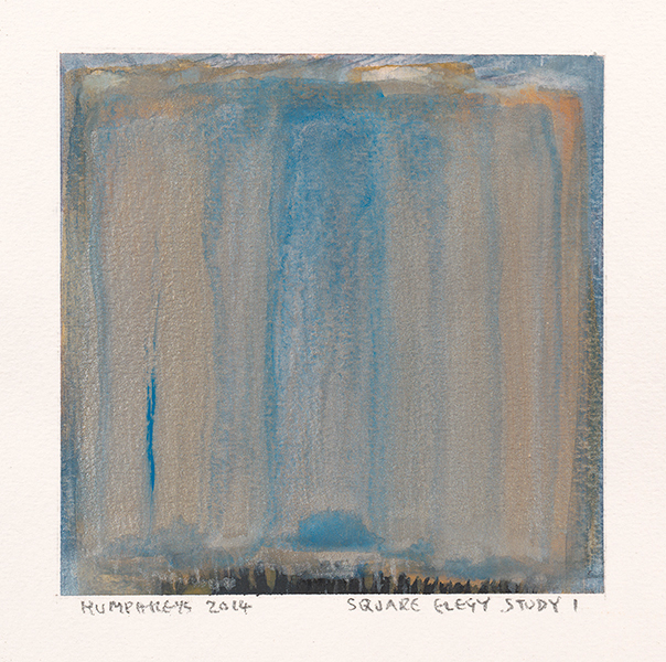 "Ian Humphreys – ""Square Elegy Study 1″ – Water Colour & Gouache – 2014"