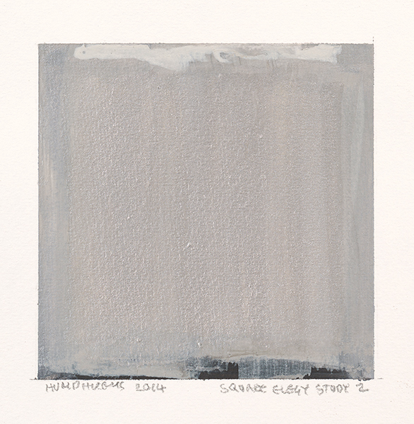 "Ian Humphreys – ""Square Elegy Study 2″ – Water Colour & Gouache – 2014"