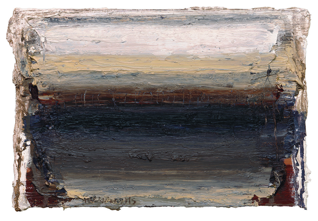 Ian Humphreys – West Edge Ashes – Oil On Board – 21 x 31 cm – 2013
