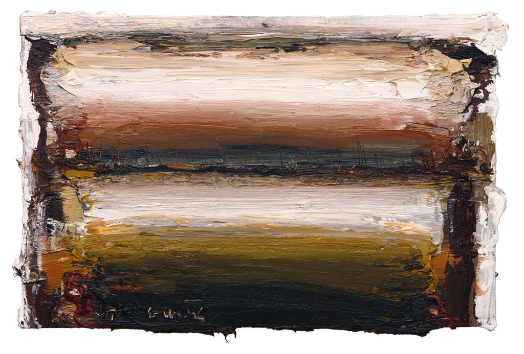 Ian Humphreys – West Edge Charred – Oil On Board – 21 x 31 cm – 2013