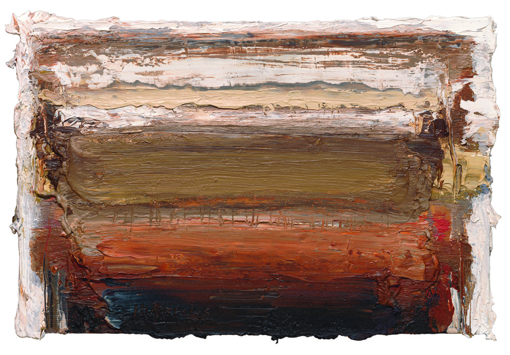 Ian Humphreys – West Edge Embers – Oil On Board – 21 x 31 cm – 2013